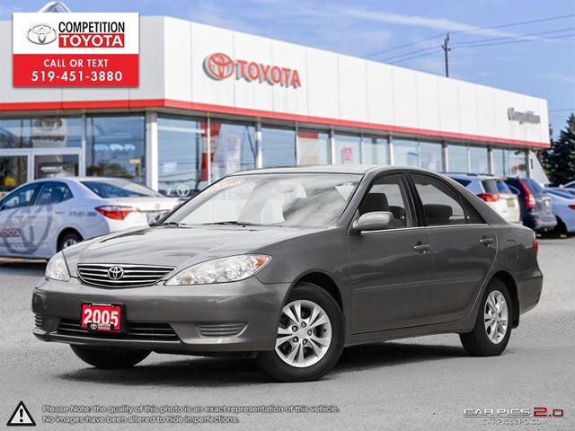 2005 TOYOTA Camry LE One Owner, Toyota Serviced in London, Ontario