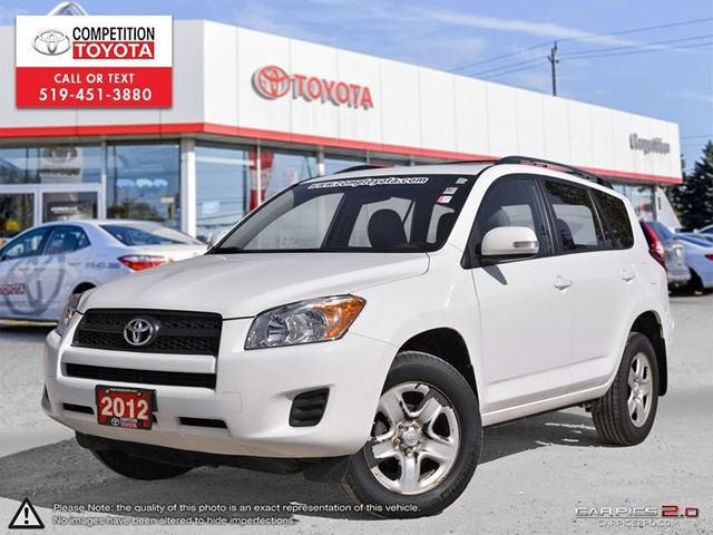 2012 TOYOTA RAV4 Base One Owner, No Accidents, Toyota Serviced in London, Ontario