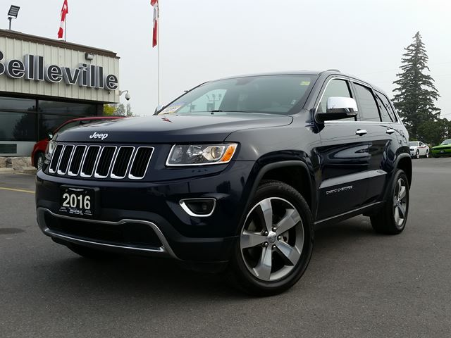 2016 JEEP Grand Cherokee Limited-SUNROOF-REMOTE CONTROL in Belleville, Ontario