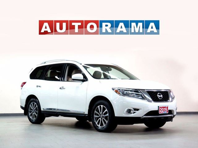 2015 NISSAN Pathfinder LEATHER  7 PASS 4WD BACKUP CAM in North York, Ontario