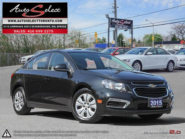 2015 CHEVROLET CRUZE ONLY 40K! **BACK-UP CAMERA** CLEAN CARPROOF in Scarborough, Ontario