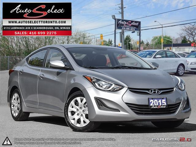 2015 HYUNDAI ELANTRA ONLY 42K! **CLEAN CARPROOF** ALL POWER OPTIONS in Scarborough, Ontario