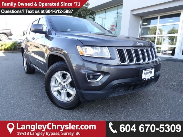 2016 JEEP GRAND CHEROKEE Laredo *ACCIDENT FREE*ONE OWNER*LOCAL BC CAR* in Surrey, British Columbia