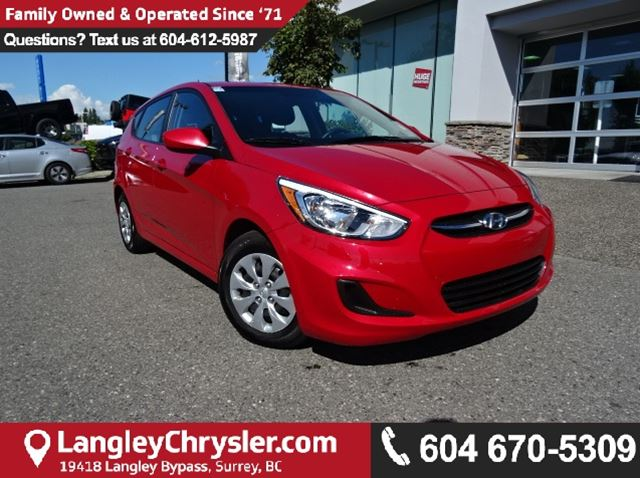 2016 HYUNDAI ACCENT SE *ACCIDENT FREE * DEALER INSPECTED * CERTIFIED * in Surrey, British Columbia