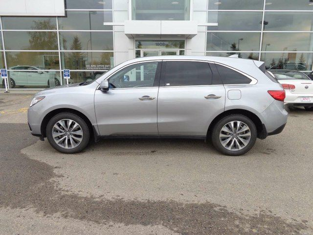 2016 ACURA MDX Nav Pkg - B/U Cam, Sunroof, Heated Leather Int + Bluetooth! in Red Deer, Alberta