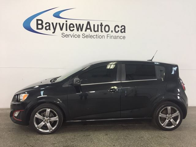 2014 CHEVROLET SONIC RS- 6 SPEED! TURBO! TINT! ROOF! HTD LTHR! CRUISE! in Belleville, Ontario