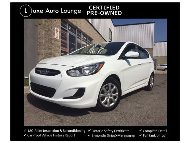 2014 Hyundai Accent GLS - AUTO, HEATED SEATS, BLUETOOTH, SATELLITE RADIO, A/C, POWER GROUP, CRUISE - LUXE CERTIFIED PRE-OWNED! in Orleans, Ontario