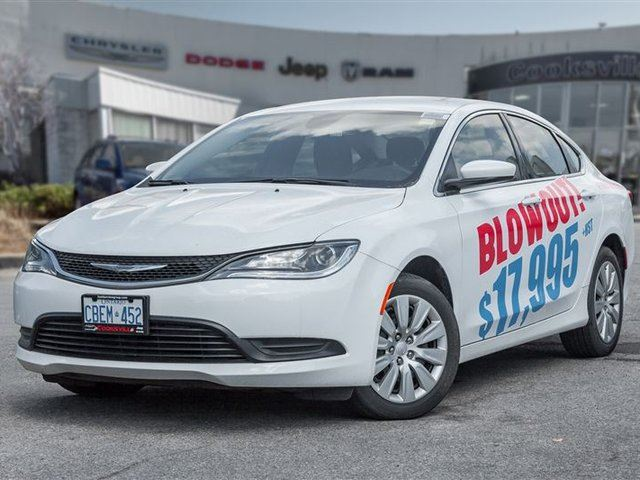 2016 CHRYSLER 200 LX, BLOW OUT 16990.00 PLUS HST in Mississauga, Ontario