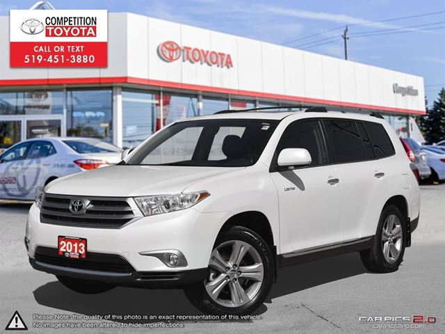 2013 TOYOTA HIGHLANDER V6 Limited Toyota Certified, One Owner, No Accidents, Toyota Serviced in London, Ontario