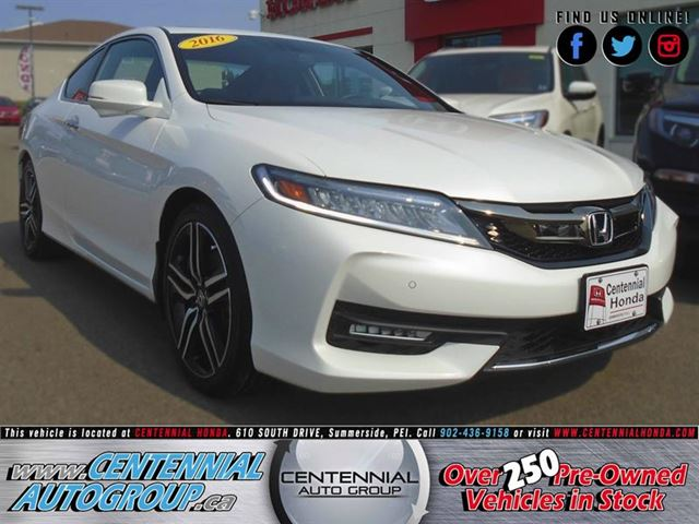 2016 Honda Accord Touring  2.4L  i4Cyl  Navigation  Bluetooth in Summerside, Prince Edward Island