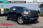 2015 GMC Canyon SLT/1-OWNER/V6/HD TRLR PKG/HTD SEATS/ASST STEPS in Milton, Ontario