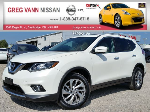 2015 NISSAN ROGUE SL AWD w/NAV,all leather,pwr group,rear cam,climate control,panoramic roof in Cambridge, Ontario