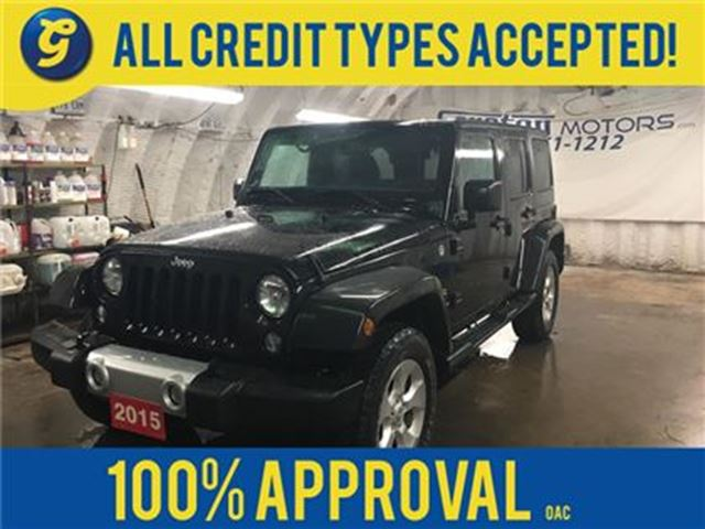 2015 JEEP WRANGLER UNLIMITIED SAHARA*NAVIGATION*4WD*U CONNECT PHONE*R in Cambridge, Ontario