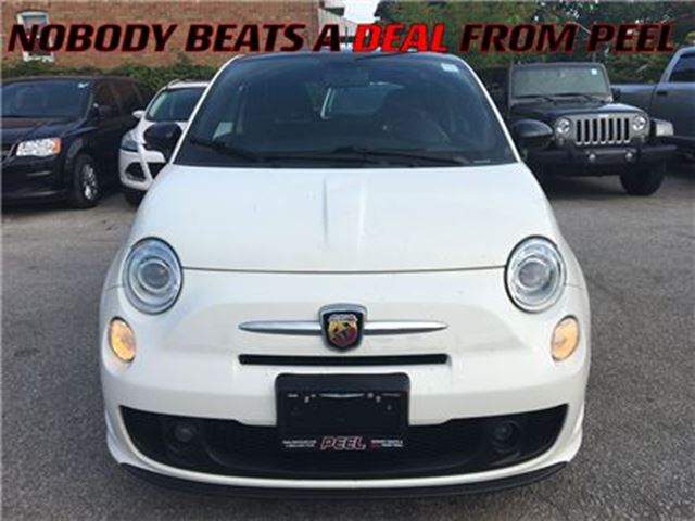 2013 FIAT 500 Abarth**LOW KMS**ROOF**17 HYPER-BLACK ALLOYS** in Mississauga, Ontario