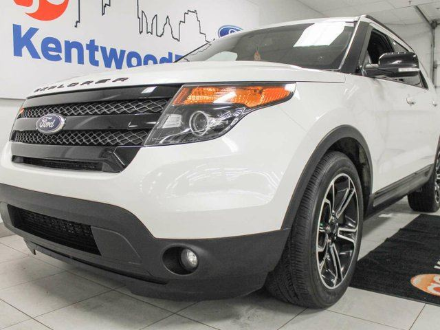 2015 FORD EXPLORER Sport 4WD ecoboost with NAV, twin panel sunroof, heated power leather seats, heated steering wheel, back up cam and power liftgate in Edmonton, Alberta