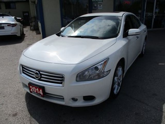 2014 NISSAN MAXIMA LOADED 'S-TYPE' 5 PASSENGER 3.5L - V6.. LEATHER in Bradford, Ontario