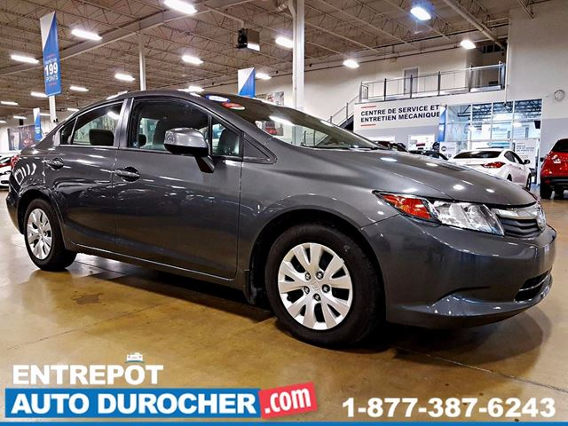 2012 HONDA CIVIC LX AUTOMATIQUE - AIR CLIMATISn++ - GROUPE n++LECTRI in Laval, Quebec