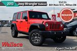 2013 Jeep Wrangler Unlimited RUBICON/1-OWNER/CLEAN HSTRY/TOW PKG/NAV/HTD LTHR in Milton, Ontario