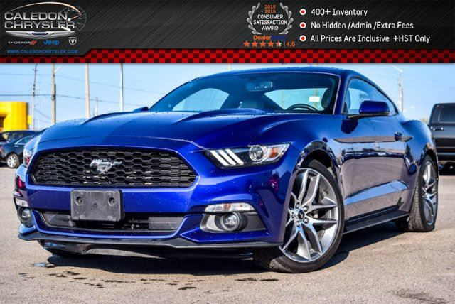 2016 Ford Mustang EcoBoost Premium Navi Bluetooth Backup Cam Leather 18Alloy Rims in Bolton, Ontario