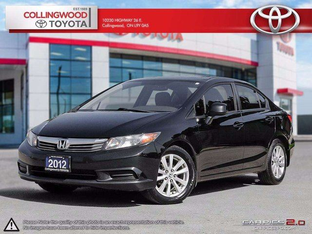 2012 Honda Civic EX MOONROOF AND ALLOYS in Collingwood, Ontario
