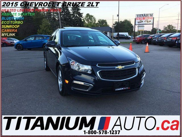2015 CHEVROLET CRUZE 2LT+Leather+Camera+Sunroof+Remote Start+Push Butto in London, Ontario