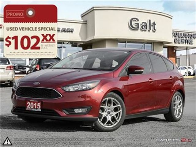 2015 FORD FOCUS SE   HEATED SEATS BACK UP CAM LOW KMS in Cambridge, Ontario