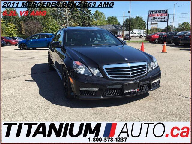 2011 Mercedes-Benz E-Class E63 AMG+Cooled & Heated Seats+GPS+Camera+Pano Roof in London, Ontario