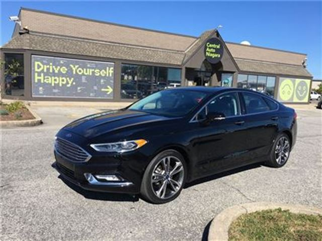 2017 ford fusion titanium navigation sunroof leather awd black autopark niagara. Black Bedroom Furniture Sets. Home Design Ideas