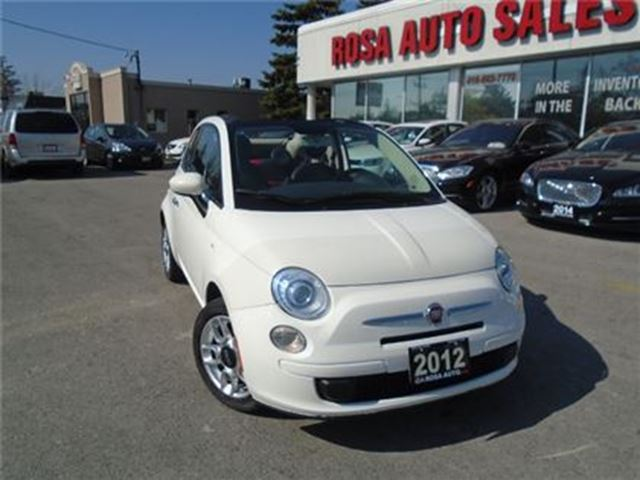 2012 FIAT 500 2dr Conv Pop  500C LOW KM   AUXILIARY  BACKUP SENS in Oakville, Ontario