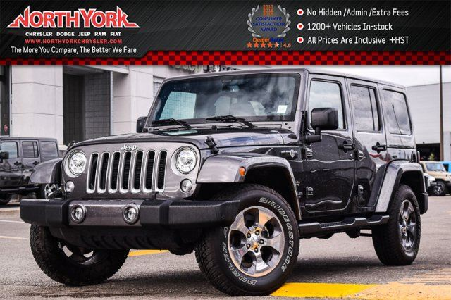 2017 JEEP Wrangler Unlimited Sahara 4x4 Connect, LED Pkgs Heat Frnt.Seats Alpine Audio in Thornhill, Ontario