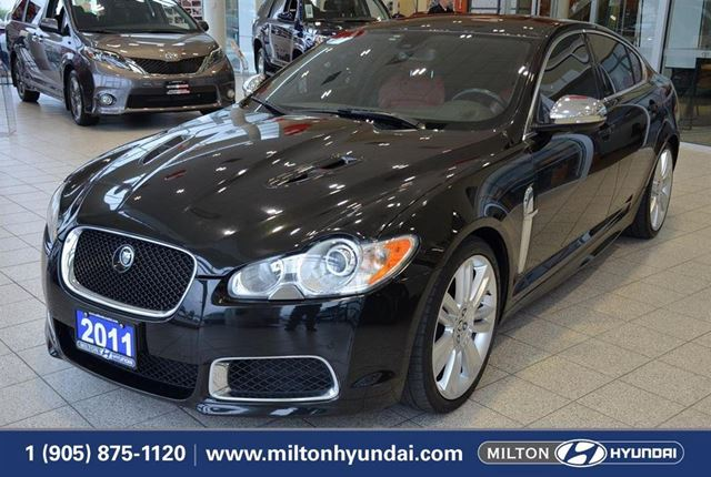 2011 JAGUAR XF XFR XFR | NAVIGATION | RED LEATHER SEATS | SUNROOF in Milton, Ontario