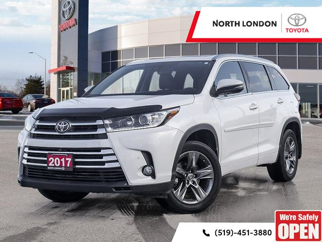 2017 TOYOTA Highlander Limited Toyota Certified, One Owner, No Accidents, Toyota Serviced in London, Ontario