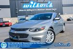2017 Chevrolet Malibu LT REAR CAMERA! PWR SEAT! APPLE CAR PLAY/ANDRIOD AUTO! TEEN DRIVER MODE! BLUETOOTH! 17 ALLOYS! in Guelph, Ontario