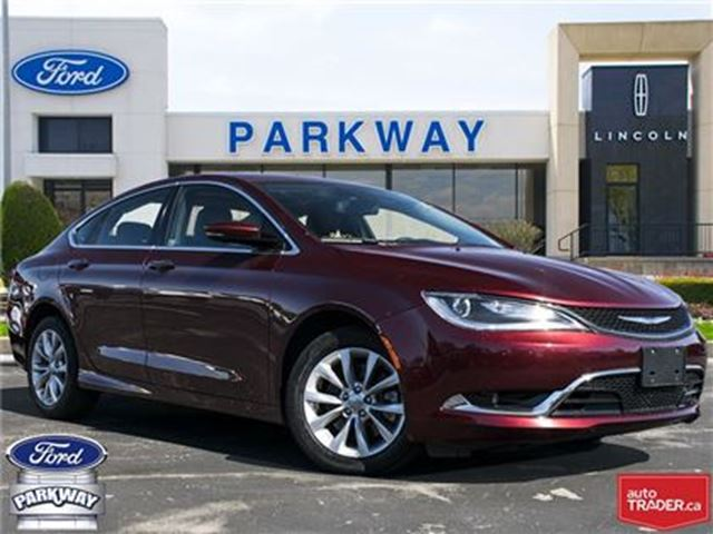 2016 CHRYSLER 200 C FWD  ACCIDENT FREE!   $189 BIWEEKLY in Waterloo, Ontario