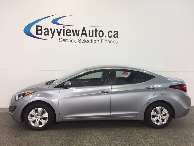 2015 HYUNDAI ELANTRA L- 6 SPD! 1.8L! PWR GROUP! LOW KM'S! BUDGET BUDDY! in Belleville, Ontario