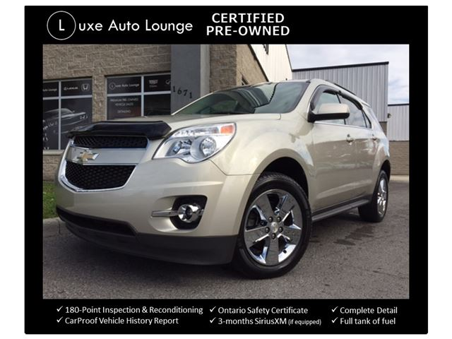 2014 Chevrolet Equinox LT - SUNROOF, NAVIGATION, BLIND SPOT MONITORING, PARK SENSORS, BACK-UP CAMERA, POWER HEATED FRONT SEATS, LOADED!! LUXE CERTIFIED PRE-OWNED! in Orleans, Ontario