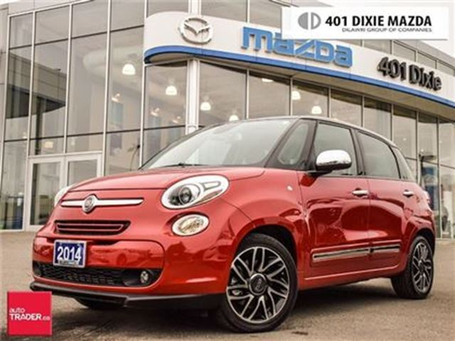 2014 FIAT 500 Lounge, PANORAMIC ROOF, LEATHER SEATS, REAR CAM in Mississauga, Ontario