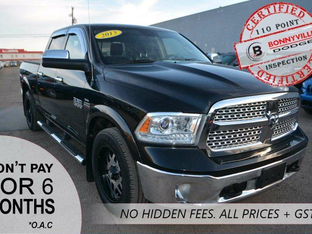 2013 Dodge RAM 1500 LARAMIE, TONNEAU COVER, LEATHER in Bonnyville, Alberta