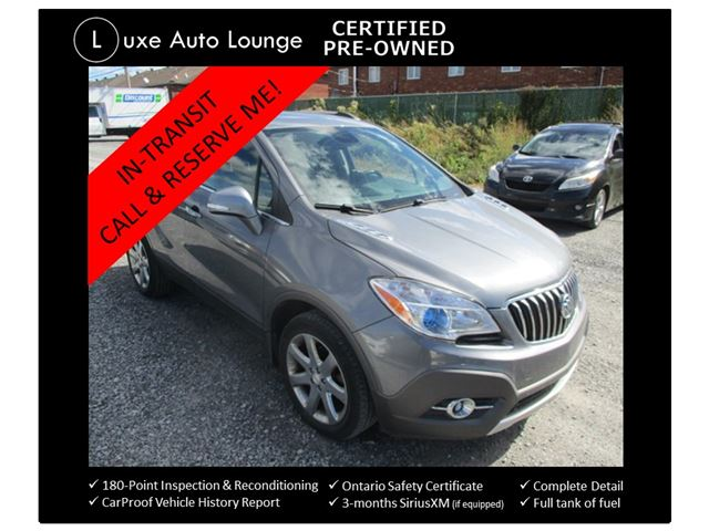 2014 Buick Encore Leather AWD - NAVIGATION! SUNROOF! LEATHER HEATED SEATS, POWER DRIVER SEAT, BACK-UP CAMERA, LUXE CERTIFIED PRE-OWNED! LOADED!! in Orleans, Ontario