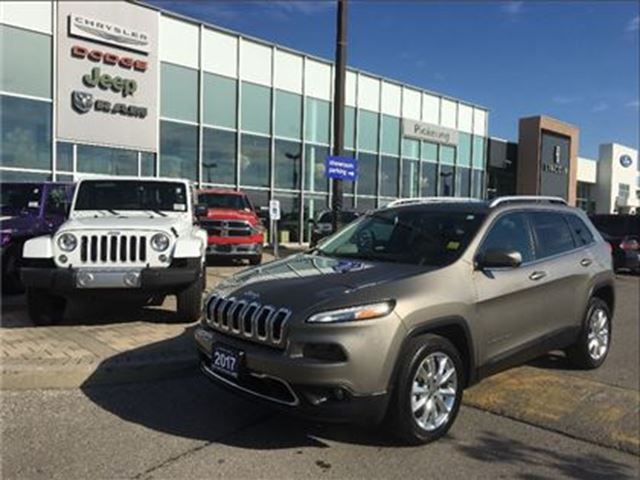 2017 JEEP CHEROKEE Limited 3.2L,LEATHER,NAV,CAMERA,SAFETY TEC GROUP in Pickering, Ontario