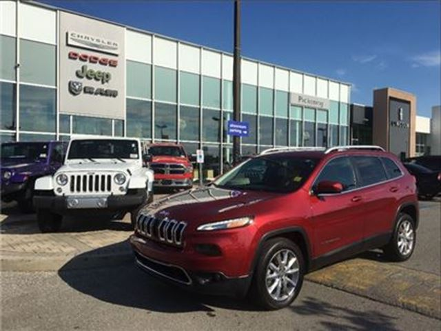 2017 JEEP CHEROKEE Limited 3.2L,NAV,CAMERA,VENTILATED/HEATED SEATS in Pickering, Ontario