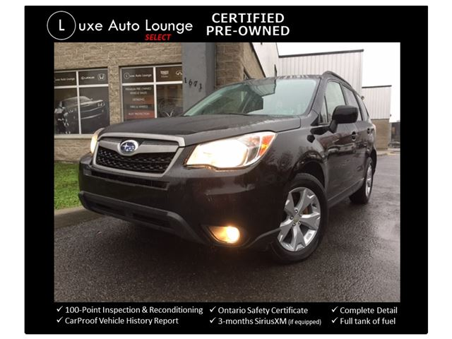 2015 Subaru Forester i Convenience PZEV - AWD! CONVENIENCE PKG, BLUETOOTH, HEATED SEATS, POWER GROUP, CRUISE, LOADED!! 2015 MODEL!! LUXE CERTIFIED PRE-OWNED! in Orleans, Ontario