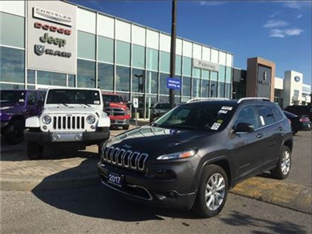 2017 JEEP CHEROKEE Limited 3.2L,LEATHER,NAV, CAMERA, HEATED SEATS in Pickering, Ontario