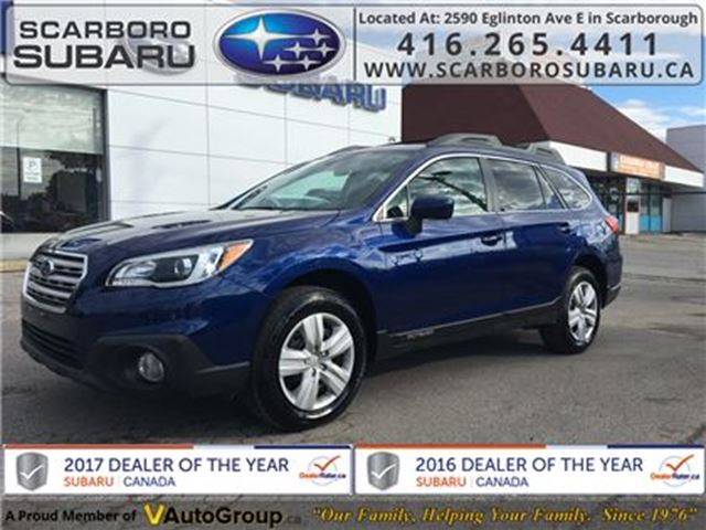 2015 SUBARU OUTBACK 2.5i, FROM 1.9% FINANCING AVAILABLE in Scarborough, Ontario