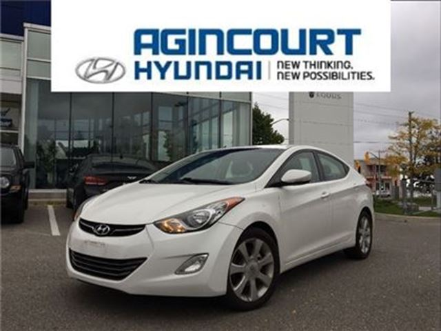 2011 HYUNDAI ELANTRA Limited/NAVI/LEATHER/SUNROOF/ONLY 87176KMS in Toronto, Ontario