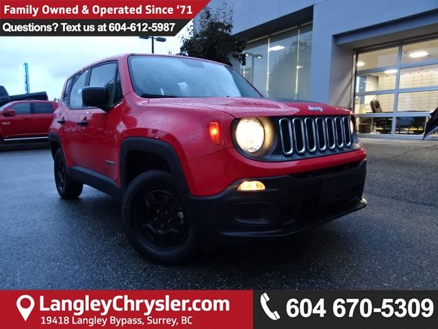 2015 JEEP Renegade Sport <b>*LOCAL BC CAR* LOW KMS*DEALER INSPECTED*<b> in Surrey, British Columbia