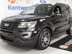 2017 Ford Explorer Sport 4WD ecoboost with twin panel sunroof, heated/cooled power seats with heated steering wheel, TWO DVD systems in the back, and a power liftgate in Edmonton, Alberta