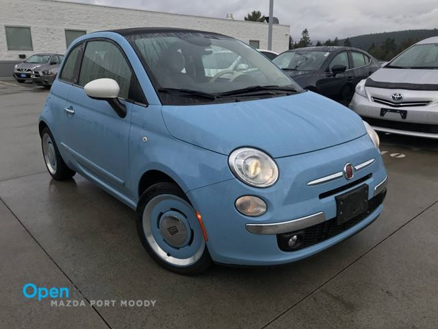 2015 FIAT 500 Lounge Local A/T Convertible Bluetooth USB AUX  in Port Moody, British Columbia
