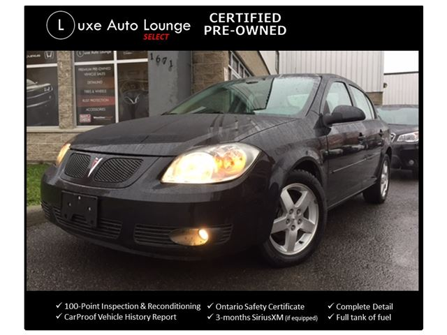 2010 PONTIAC G5 SE - AUTO, SUNROOF, BLUETOOTH, REMOTE START, SATELLITE RADIO, LUXE SELECT CERTIFIED PRE-OWNED in Orleans, Ontario