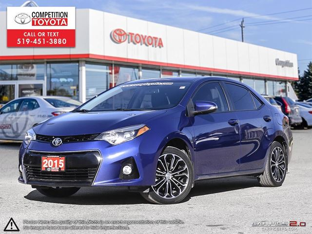 2015 TOYOTA COROLLA S Toyota Certified, Toyota Serviced, No Accidents in London, Ontario